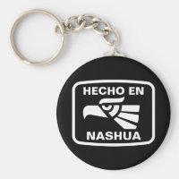 Hecho en Nashua personalizado custom personalized Keychain