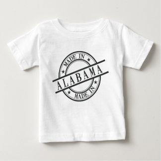 Hecho en negro del logotipo del estilo del sello camisas