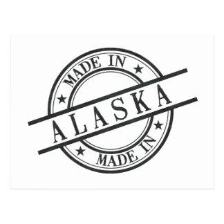 Hecho en negro del símbolo del logotipo del estilo postales