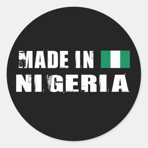 Hecho en Nigeria Etiquetas Redondas