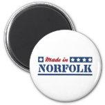 Hecho en Norfolk Imán Redondo 5 Cm