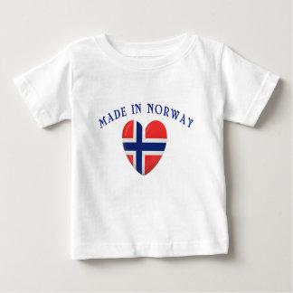 Hecho en Noruega con amor Playera De Bebé