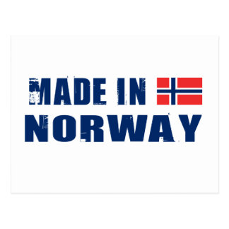 Hecho en Noruega Tarjeta Postal