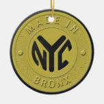 Hecho en Nueva York Bronx Ornamento Para Arbol De Navidad