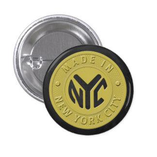 Hecho en Nueva York Chapa Redonda 2,5 Cm