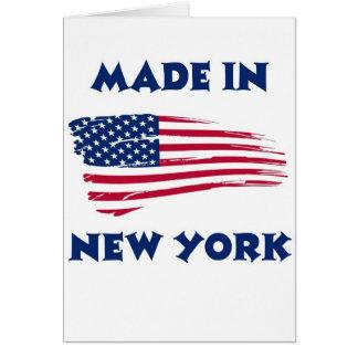 HECHO EN NUEVA YORK TARJETA DE FELICITACIÓN