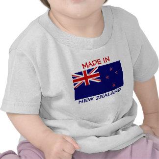 Hecho en Nueva Zelanda con la bandera de Nueva Zel