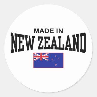 Hecho en Nueva Zelanda Pegatina Redonda