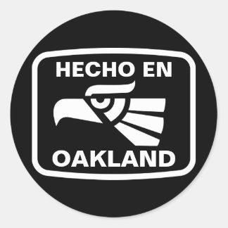 Hecho en Oakland personalizado custom personalized Classic Round Sticker