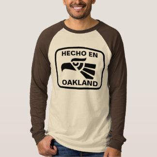 Hecho en Oakland personalizado custom personalized T Shirt