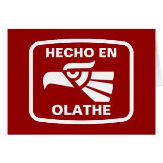 Hecho en Olathe personalizado custom personalized Cards