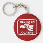 Hecho en Olathe personalizado custom personalized Keychains