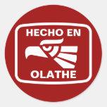Hecho en Olathe personalizado custom personalized Round Stickers