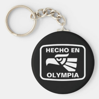 Hecho en Olympia personalizado custom personalized Keychain