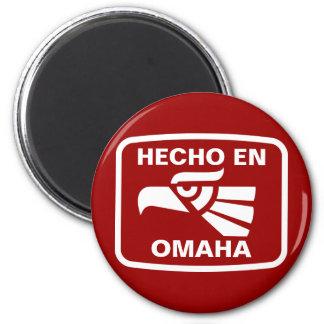 Hecho en Omaha  personalizado custom personalized 2 Inch Round Magnet