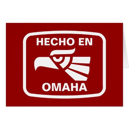 Hecho en Omaha  personalizado custom personalized Card