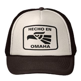 Hecho en Omaha  personalizado custom personalized Trucker Hat
