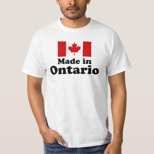 Hecho en Ontario Playeras