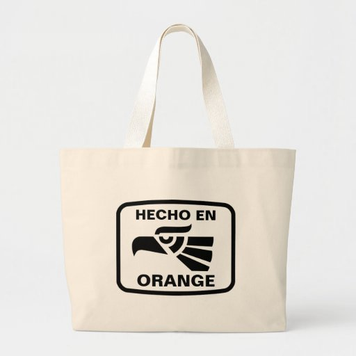 Hecho en Orange personalizado custom personalized Jumbo Tote Bag