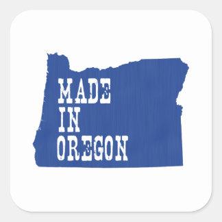 Hecho en Oregon Pegatina Cuadrada