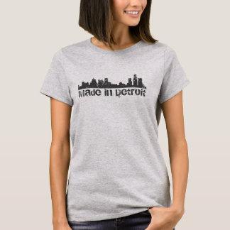 Hecho en paisaje urbano del horizonte de Detroit Playera