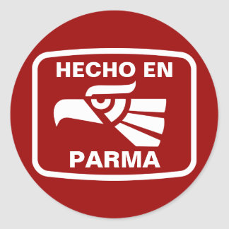 Hecho en Parma personalizado custom personalized Classic Round Sticker
