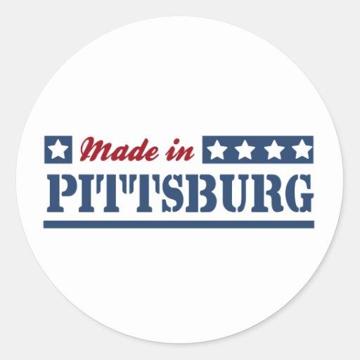 Hecho en Pittsburg Pegatina Redonda