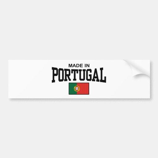 Hecho en Portugal Etiqueta De Parachoque