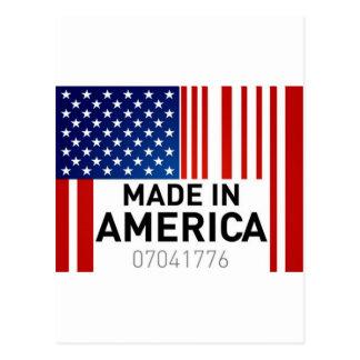 Hecho en productos del logotipo de la bandera de tarjetas postales