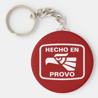 Hecho en Provo personalizado custom personalized Keychain