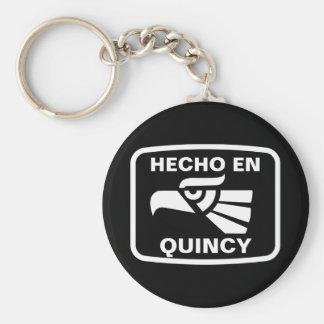 Hecho en Quincy personalizado custom personalized Keychain