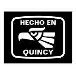 Hecho en Quincy personalizado custom personalized Postcard