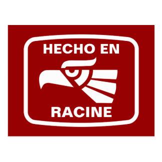 Hecho en Racine personalizado custom personalized Post Card