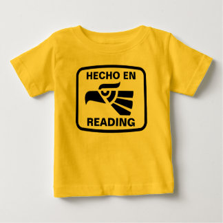 Hecho en Reading personalizado custom personalized Infant T-shirt