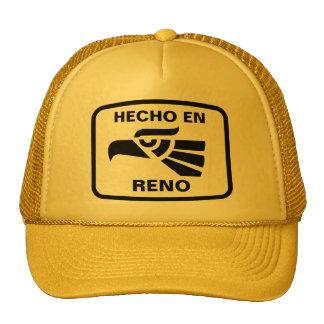 Hecho en Reno  personalizado custom personalized Hats