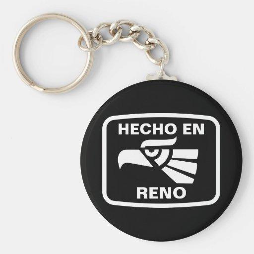 Hecho en Reno personalizado custom personalized Key Chains