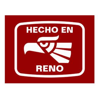 Hecho en Reno  personalizado custom personalized Postcard