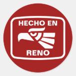 Hecho en Reno  personalizado custom personalized Classic Round Sticker