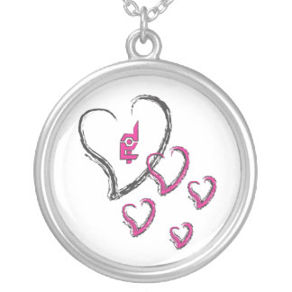 Hecho en rosa/blanco extremos del collar de los