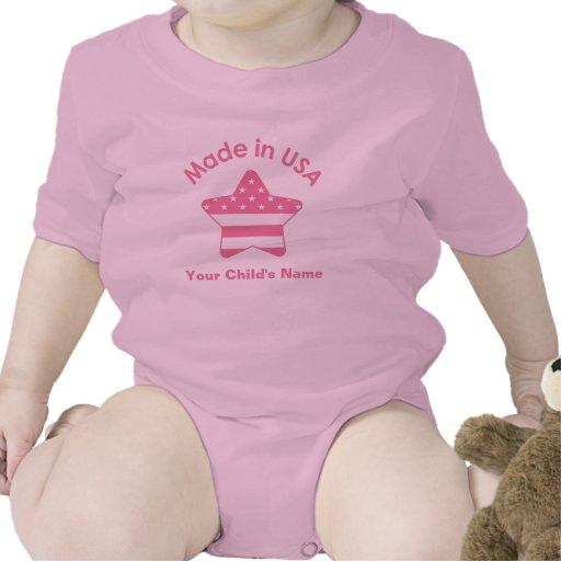 Hecho en rosa de los E.E.U.U. Camiseta