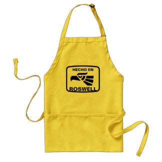 Hecho en Roswell personalizado custom personalized Adult Apron
