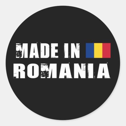 Hecho en Rumania Etiquetas Redondas