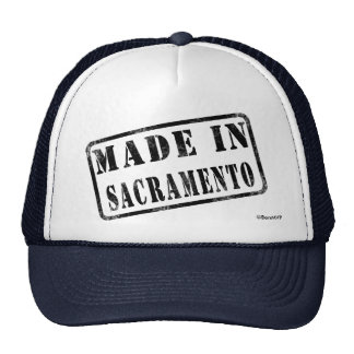 Hecho en Sacramento Gorras De Camionero