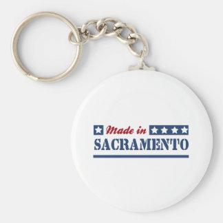 Hecho en Sacramento Llavero Redondo Tipo Pin