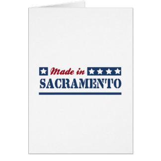 Hecho en Sacramento Tarjeta De Felicitación