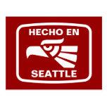 Hecho en Seattle personalizado custom personalized Postcard