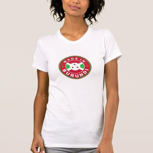 hecho en sello de la etiqueta de la bandera de paí camisetas