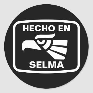 Hecho en Selma personalizado custom personalized Classic Round Sticker