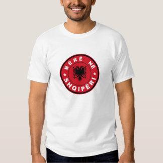hecho en shqiperi de la cebada de la etiqueta de camisas