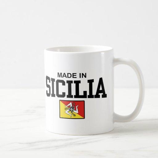 Hecho en Sicilia Taza Básica Blanca